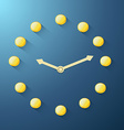 golden coin clock vector image vector image