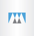 gray blue logo m letter m icon vector image vector image
