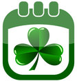 icon st patrick day in a calendar vector image vector image