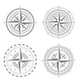 icons with compass rose for your design vector image vector image
