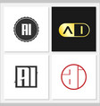 initial letter ai logo template design vector image
