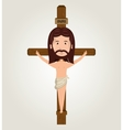 Jesus christ crucifix desing isolated vector image