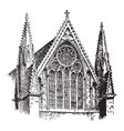 lincoln cathedral of the blessed virgin mary of vector image