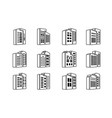 line perspective black company icons and vector image vector image