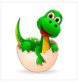 Little cute dinosaur vector image vector image