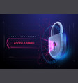 lock in futuristic style protection business vector image vector image