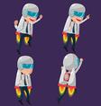 Man Worker Rocketteer Startup Fly vector image vector image
