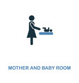 mother and baby room icon monochrome style design vector image vector image