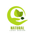 natural logo design eco premium quality label vector image vector image