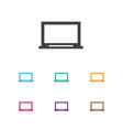 of laptop symbol on screen vector image vector image