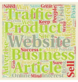 OG web traffic 6 text background wordcloud concept vector image vector image