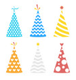 party different hats collection for a birthday vector image vector image