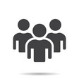 people icon with shadow vector image