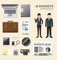 people set business job character icons flat style vector image
