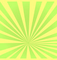 pop art background the rays of the sun green vector image