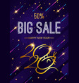 poster big sale 2020 happy new year christmas vector image
