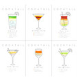 poster cocktails mojito vector image