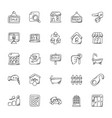 property and real estate icons set vector image