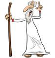prophet or sage comic character cartoon vector image