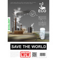 realistic environmental protection poster vector image vector image