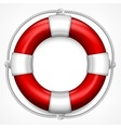 Red life buoy on white vector image vector image