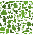 saint patrick day seamless pattern for your vector image vector image