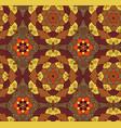seamless hand drawn mandala patternvintage vector image vector image