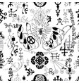 seamless pattern with mystic symbols vector image vector image
