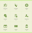 set of 9 editable complex icons includes symbols vector image vector image