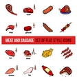 set of meat products vector image