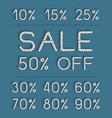 set sale labels for discount season vector image vector image
