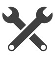 spanners flat icon symbol vector image