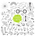 spring time accessories vector image