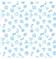 startup seamless outline pattern or vector image vector image