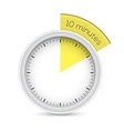 Stop-watch 10 Minutes Timer vector image