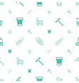 supplies icons pattern seamless white background vector image vector image