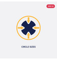 two color circle sizes icon from ultimate vector image vector image