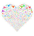 unknown person fireworks heart vector image vector image