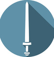 Viking Sword Icon vector image vector image