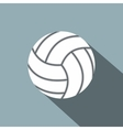 Volleyball ball flat icon vector image vector image