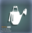 Watering can icon On the blue-green abstract vector image