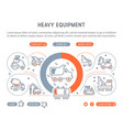 website banner and landing page heavy equipment vector image vector image