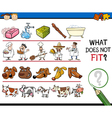 what does not fit game cartoon vector image vector image