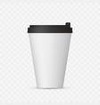 white coffee cap mock up empty mug template vector image vector image