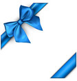 white holiday background with blue bow vector image vector image