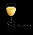White wine vector image vector image