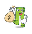 with money bag pants character cartoon style vector image