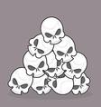 pile of skulls vector image