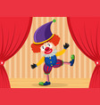 a clown showing on stage vector image vector image