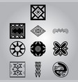 african cultural symbolic ornaments set vector image vector image